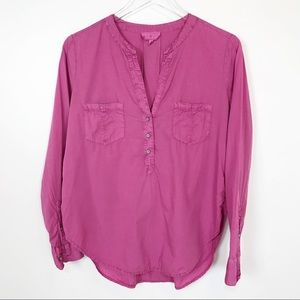 Lou & Grey pink cotton popover
